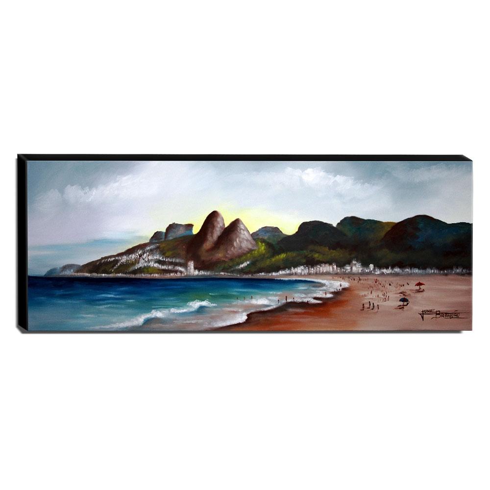 Quadro Decorativo Canvas Leblon 40x105cm