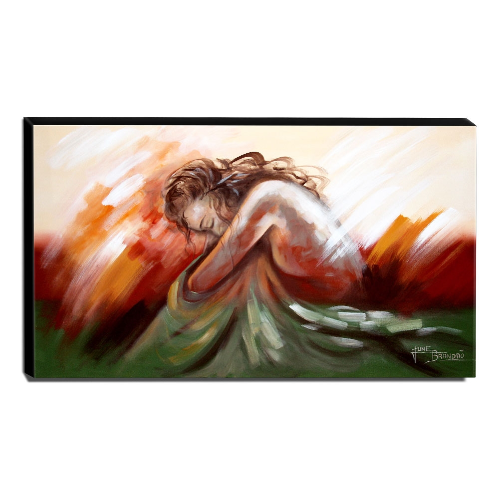 Quadro Decorativo Canvas Nu Artístico 60x105cm