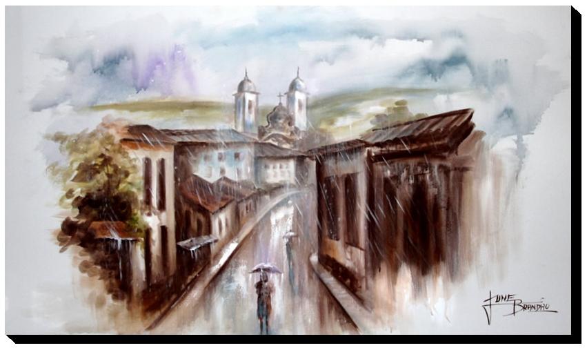 Quadro Decorativo Canvas Ouro Preto 60x105cm