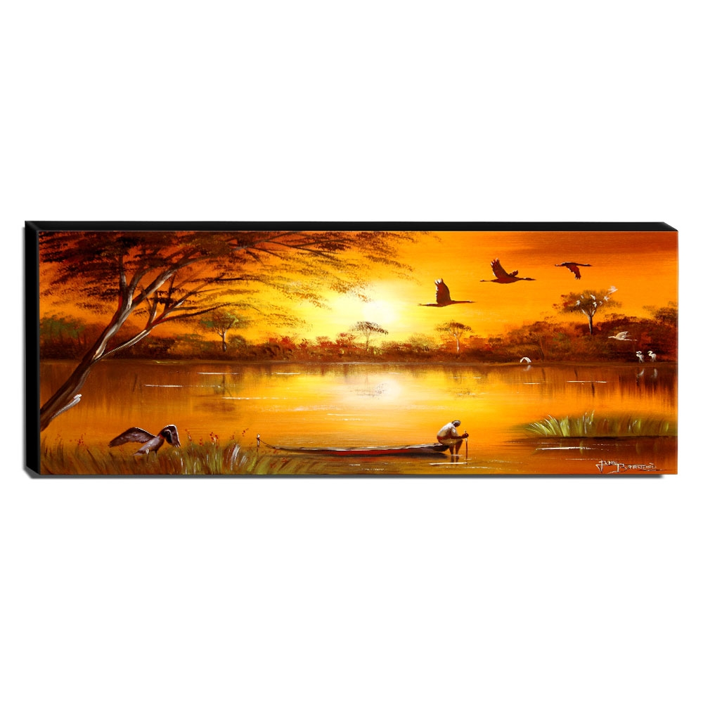 Quadro Decorativo Canvas Pantanal 40x105cm