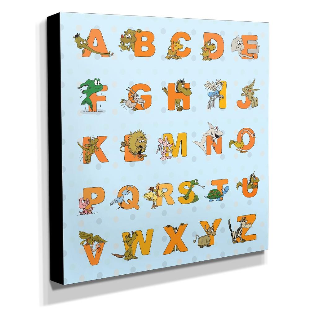 Quadro Infantil Alfabeto Inglês Canvas 30x30cm-INF112