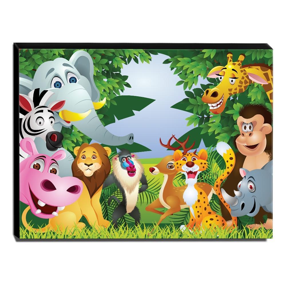 Quadro Infantil Animais Canvas 30x40cm-INF275