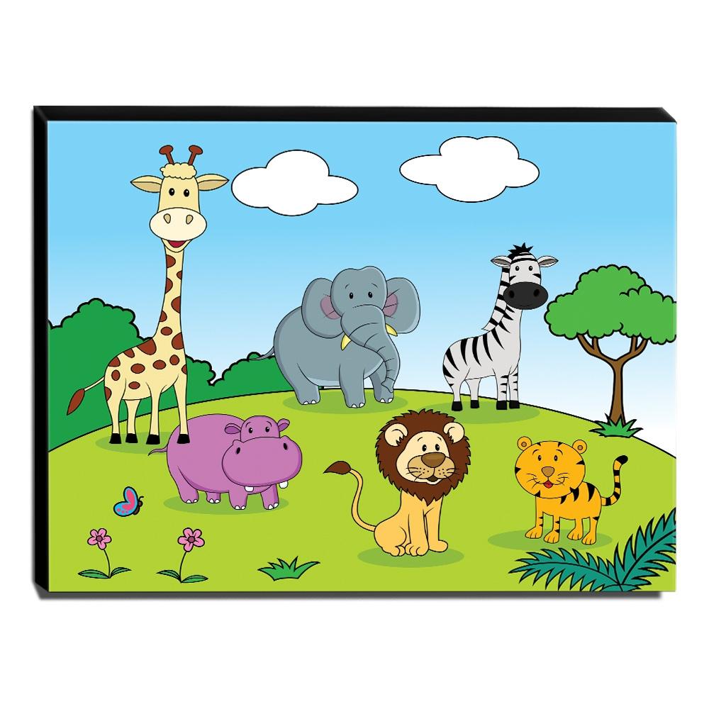 Quadro Infantil Animais Canvas 30x40cm-INF279