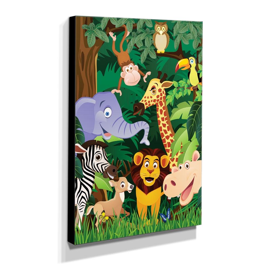 Quadro Infantil Animais Canvas 40x30cm-INF170