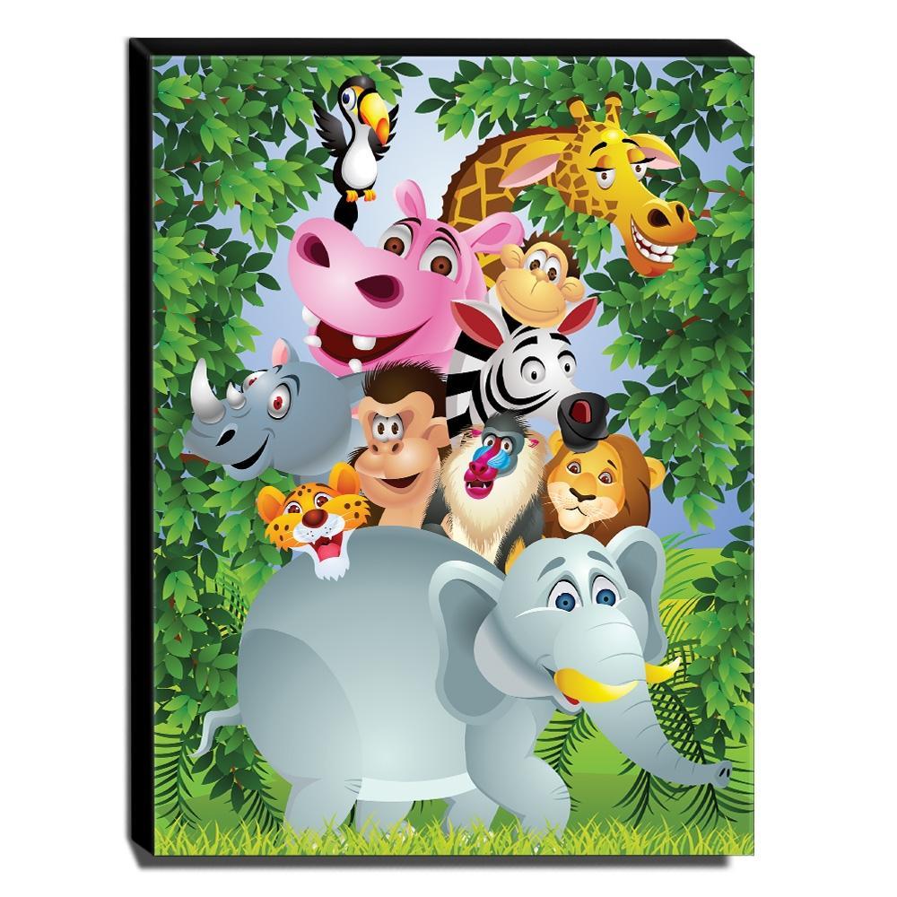 Quadro Infantil Animais Canvas 40x30cm-INF277