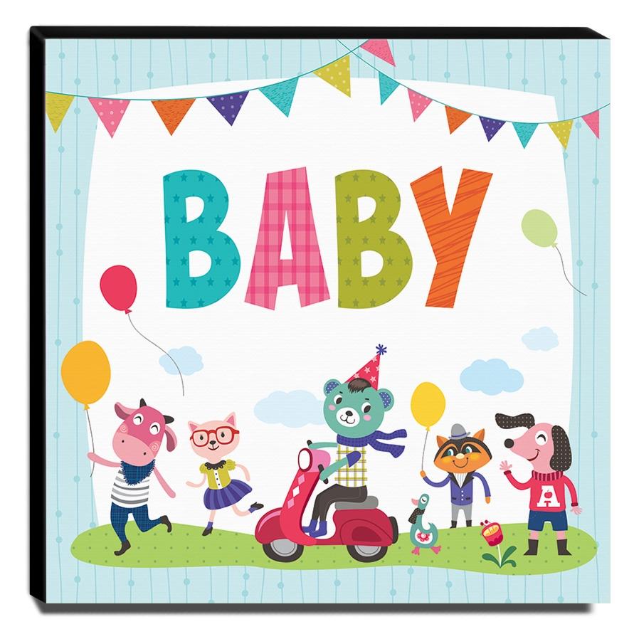 Quadro Infantil Baby Canvas 30x30cm-INF97