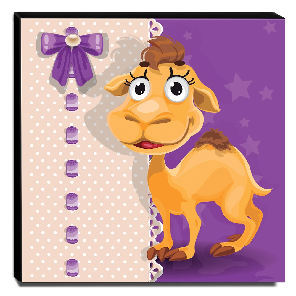Quadro Infantil Camelo Canvas 30x30cm-INF118