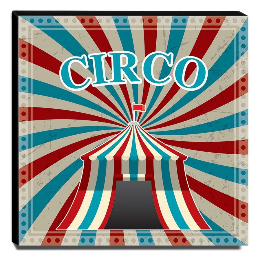 Quadro Infantil Circo Canvas 30x30cm-INF362