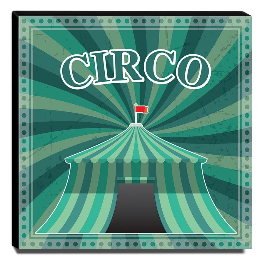 Quadro Infantil Circo Canvas 30x30cm-INF365
