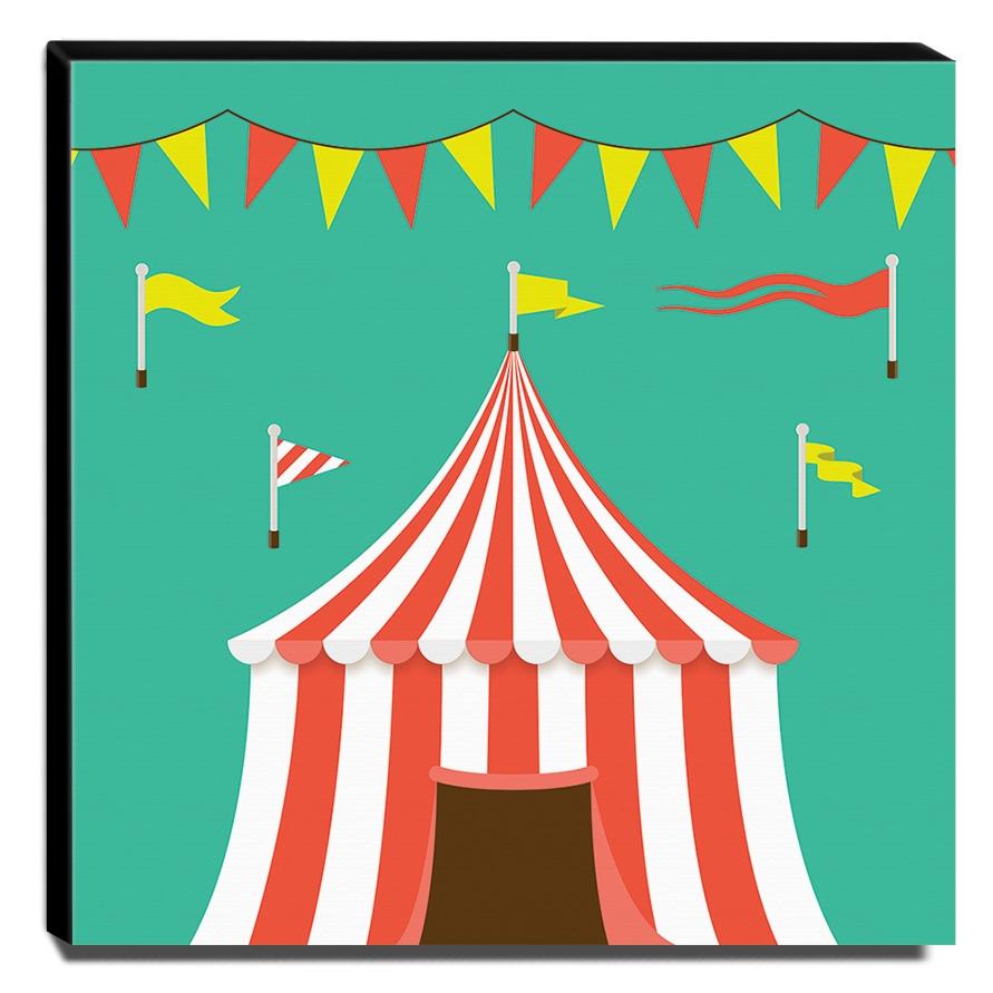 Quadro Infantil Circo Canvas 30x30cm-INF373