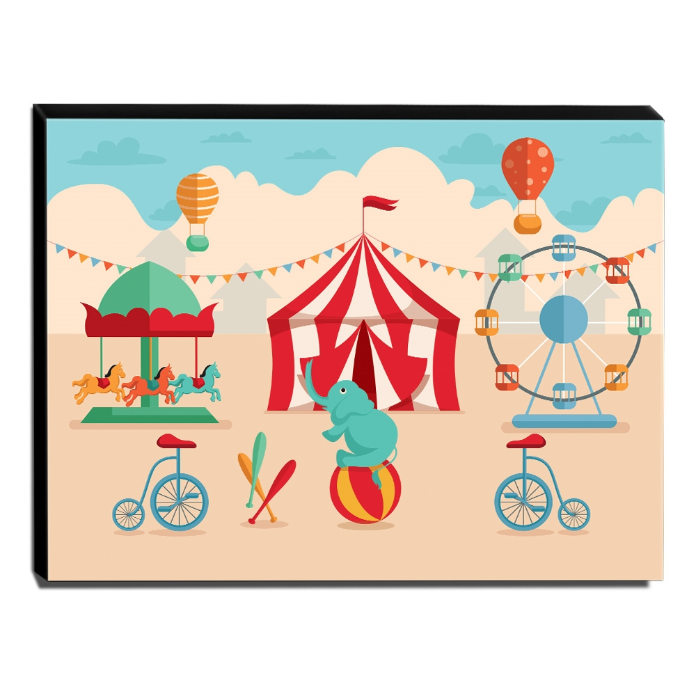 Quadro Infantil Circo Canvas 30x40cm-INF369