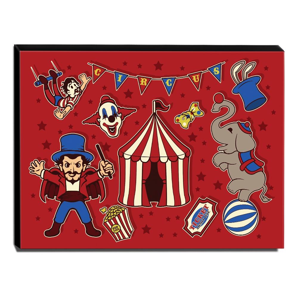 Quadro Infantil Circo Canvas 30x40cm-INF371