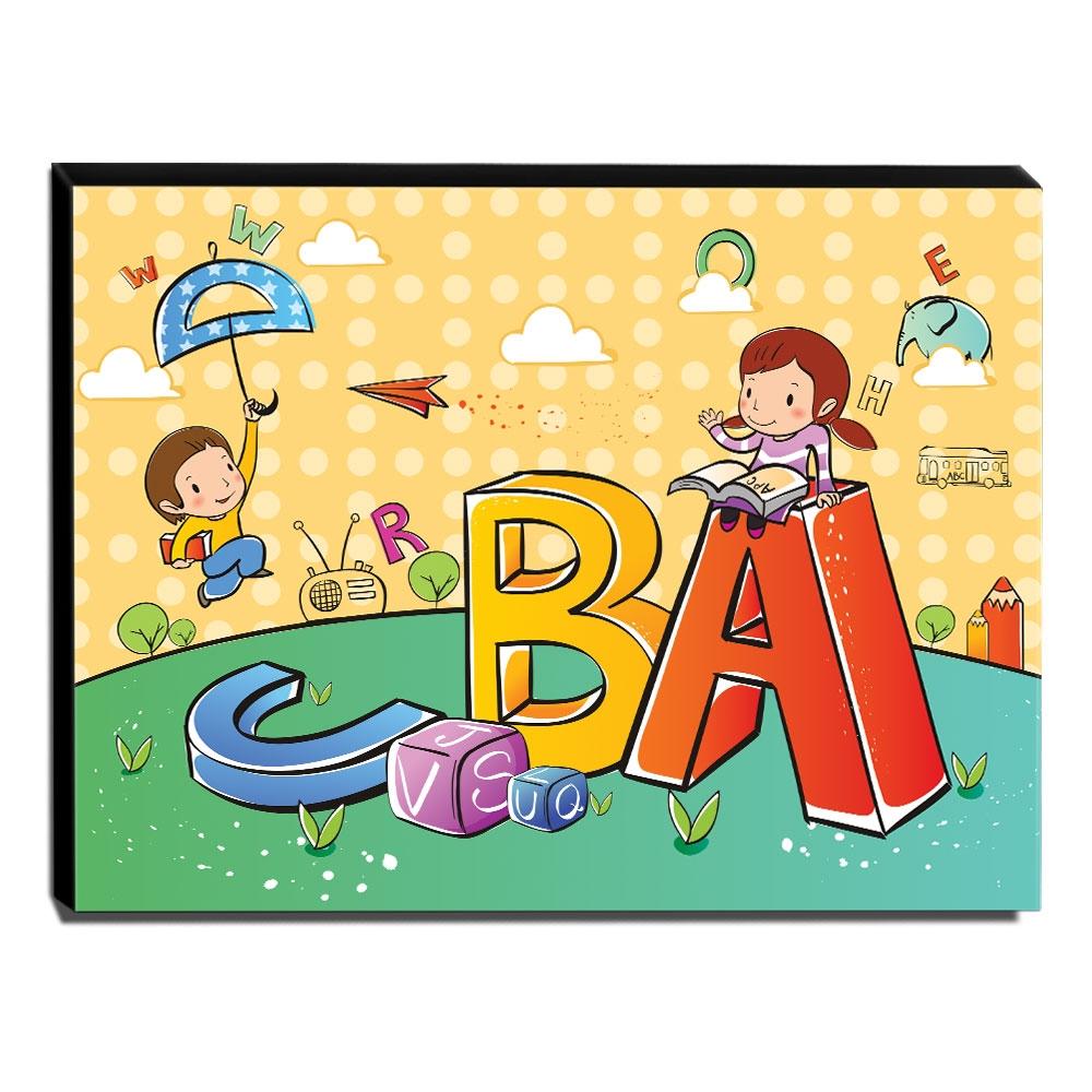 Quadro Infantil Letras Canvas 30x40cm-INF82