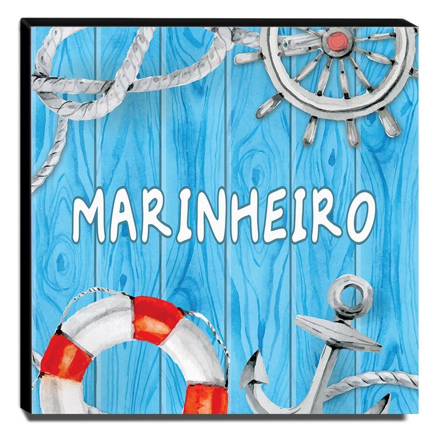 Quadro Infantil Marinheiro Canvas 30x30cm-INF390