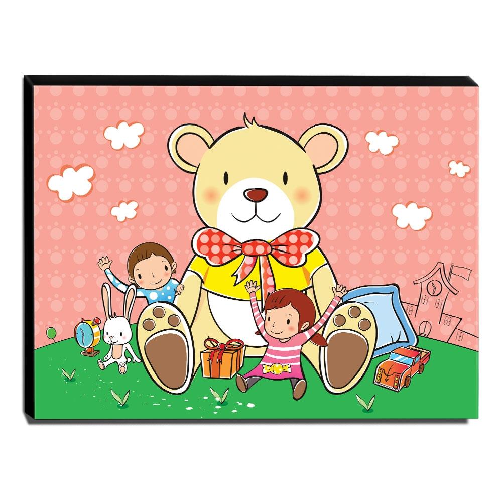 Quadro Infantil Urso Canvas 30x40cm-INF86