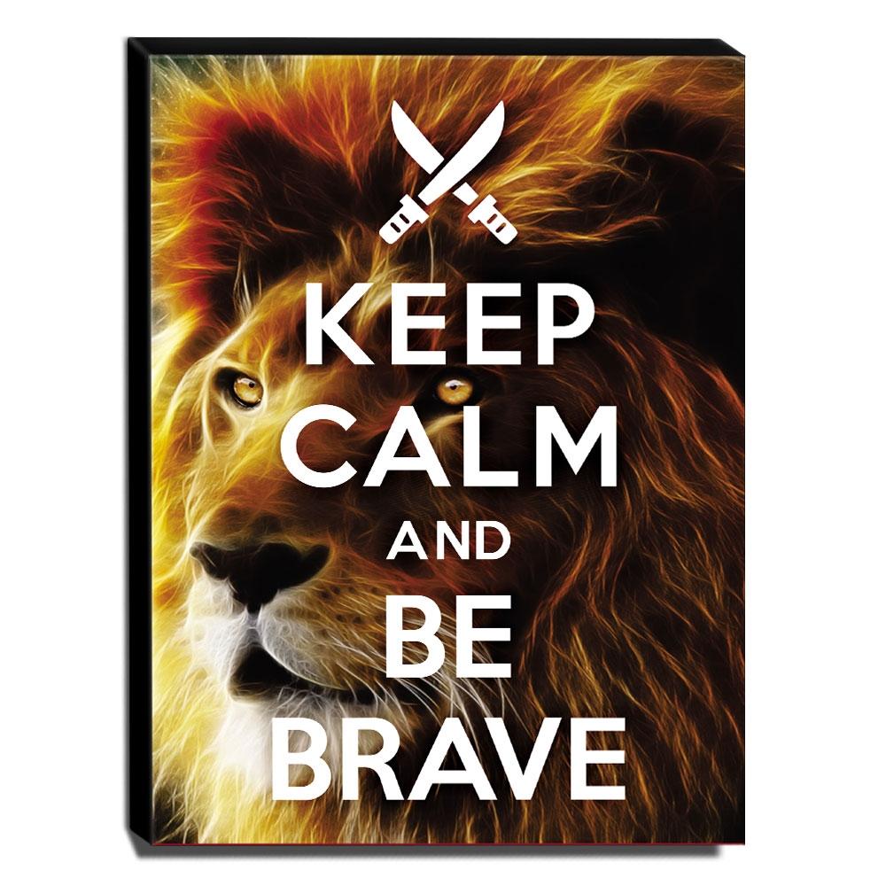 Quadro Keep Calm And Be Brave Canvas 40x30cm-KCA76