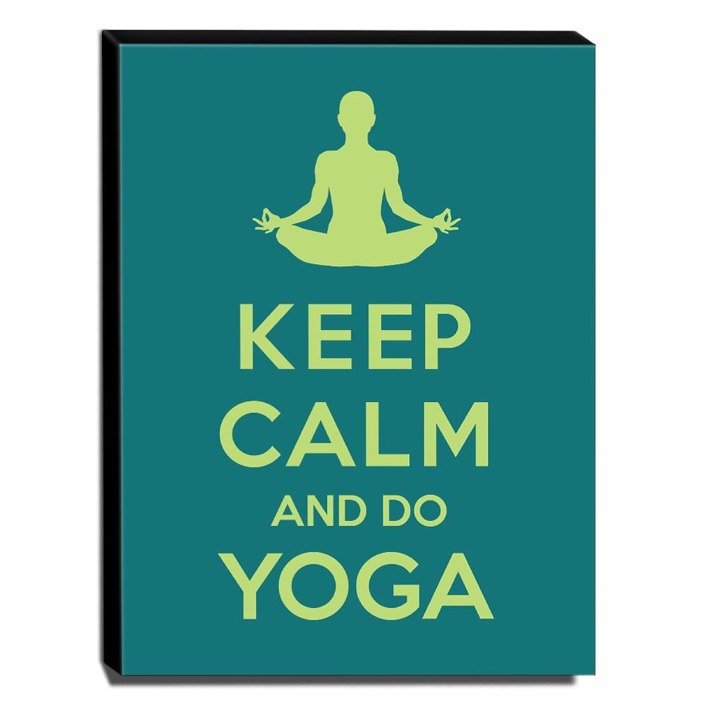Quadro Keep Calm And Do Yoga Canvas 40x30cm-KCA13
