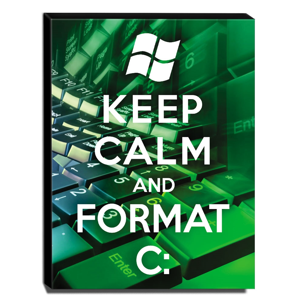 Quadro Keep Calm And Format C: Canvas 40x30cm-KCA108