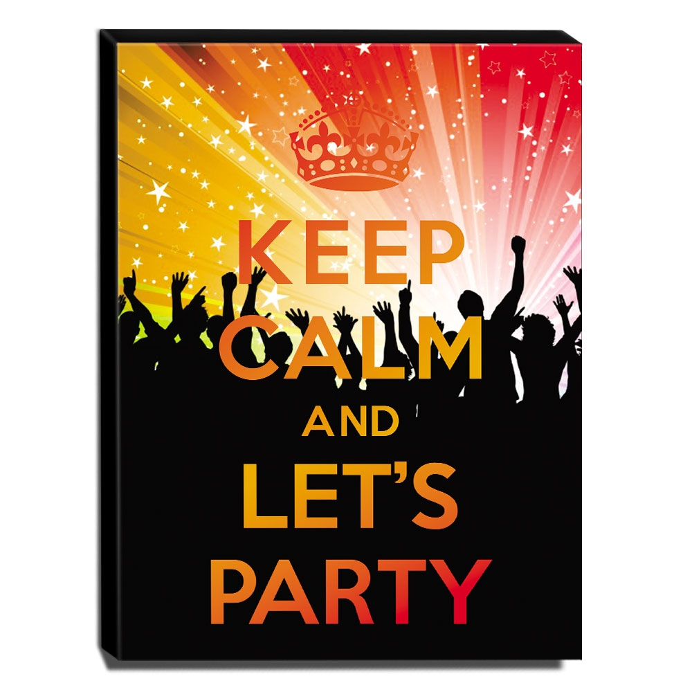 Quadro Keep Calm And Let's Party Canvas 40x30cm-KCA24