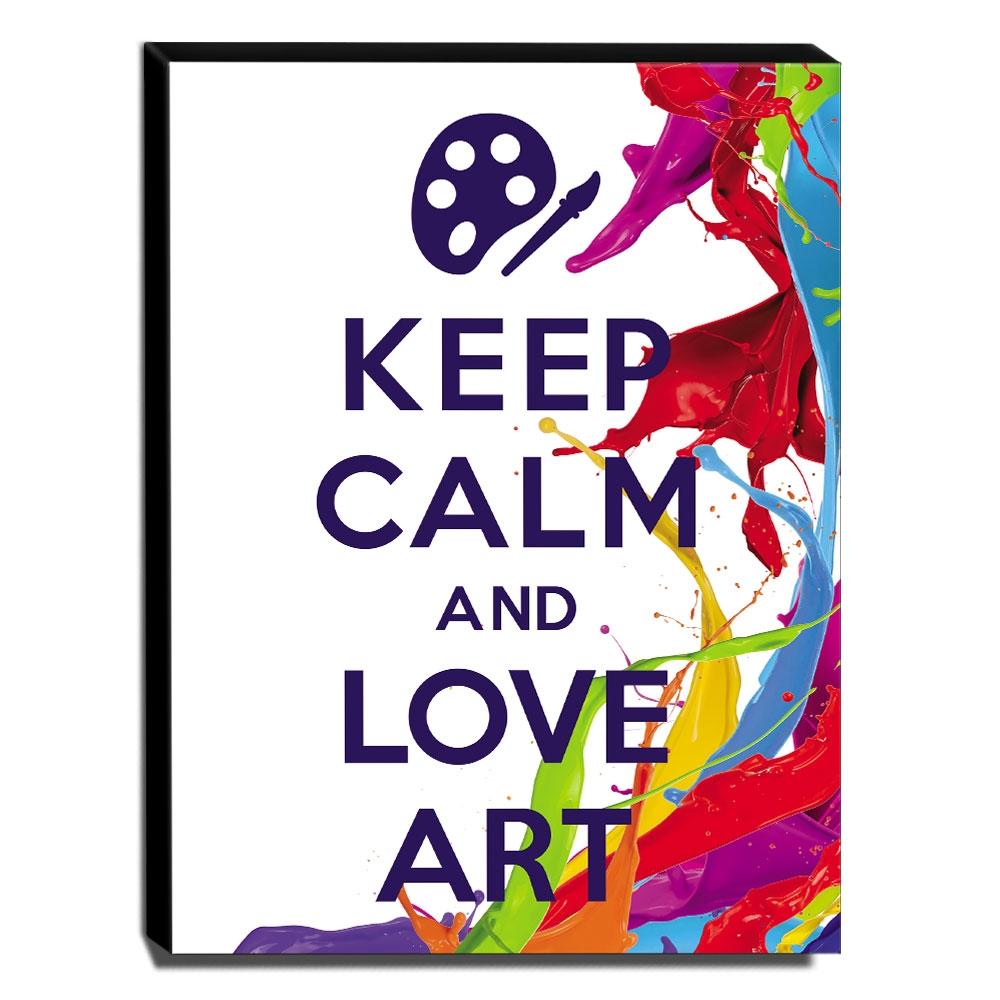 Quadro Keep Calm And Love Art Canvas 40x30cm-KCA80
