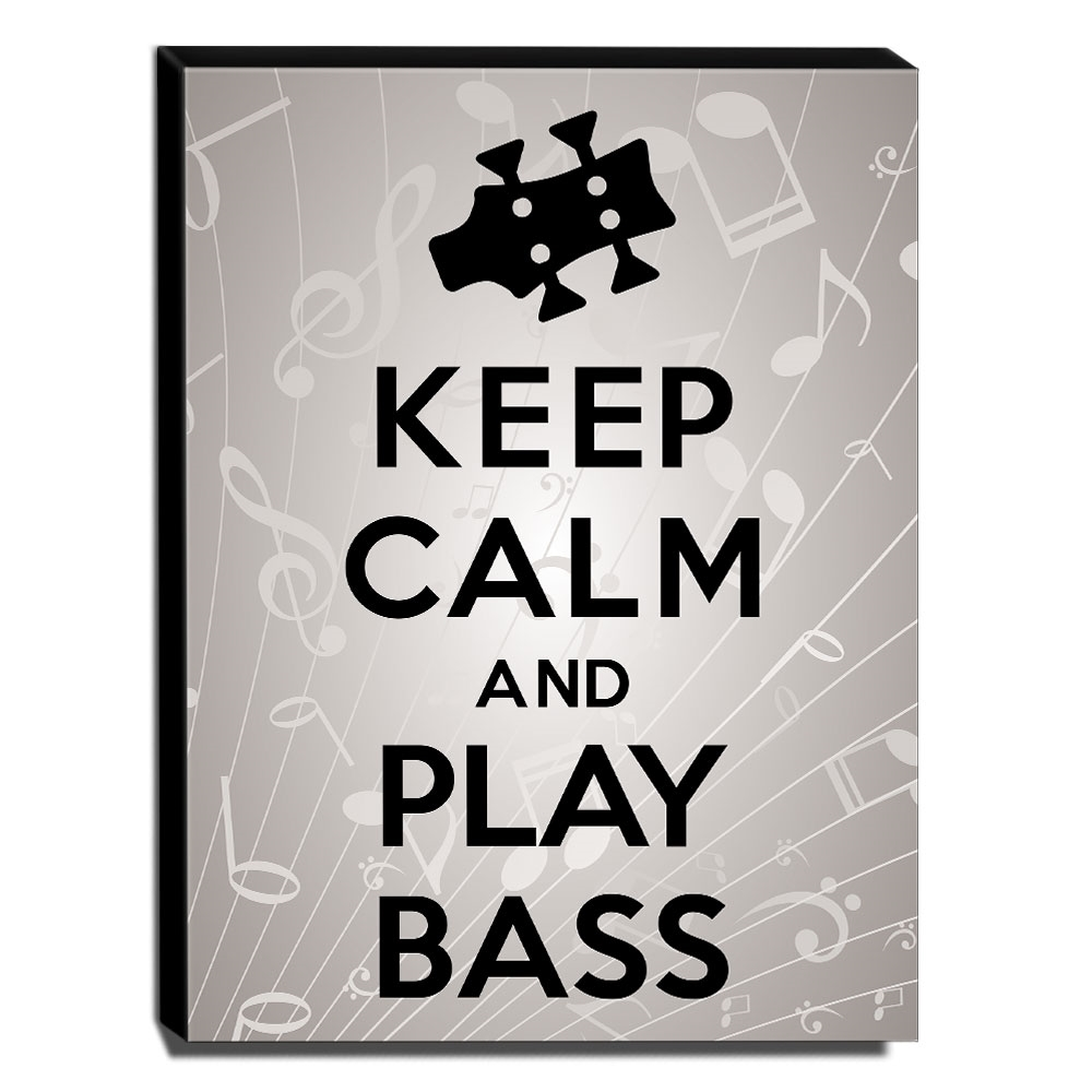 Quadro Keep Calm And Play Bass Canvas 40x30cm-KCA52
