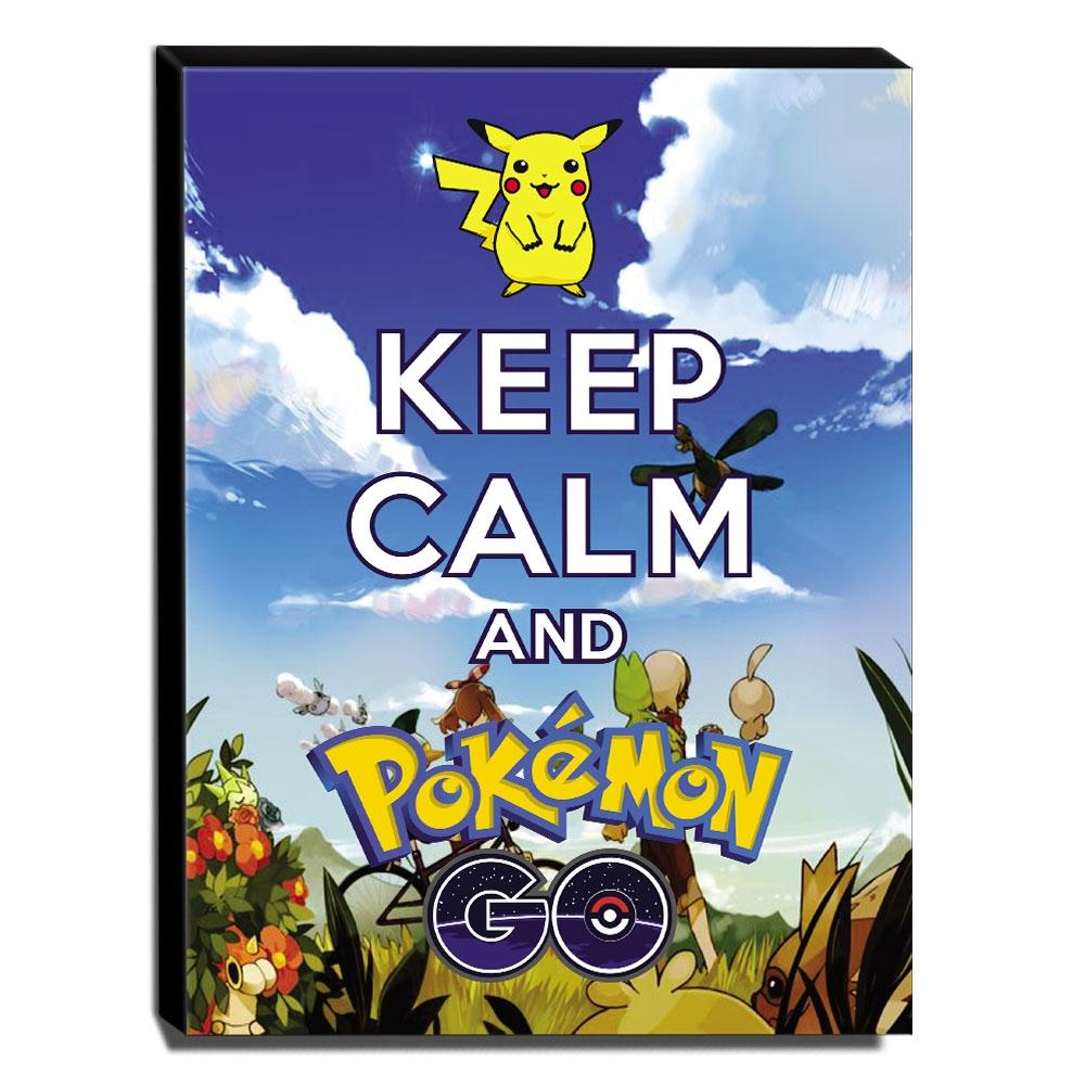 Quadro Keep Calm And Pokemon Go Canvas 40x30cm-KCA103