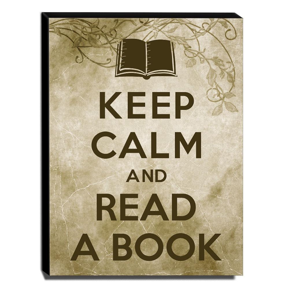 Quadro Keep Calm And Read a Book Canvas 40x30cm-KCA57