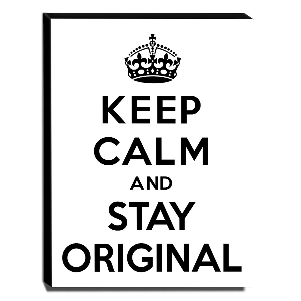Quadro Keep Calm And Stay Original Canvas 40x30cm-KCA62