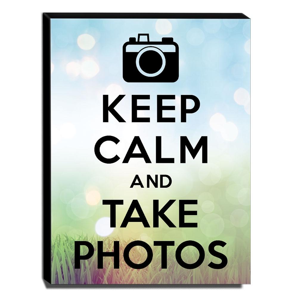 Quadro Keep Calm And Take Photos Canvas 40x30cm-KCA36