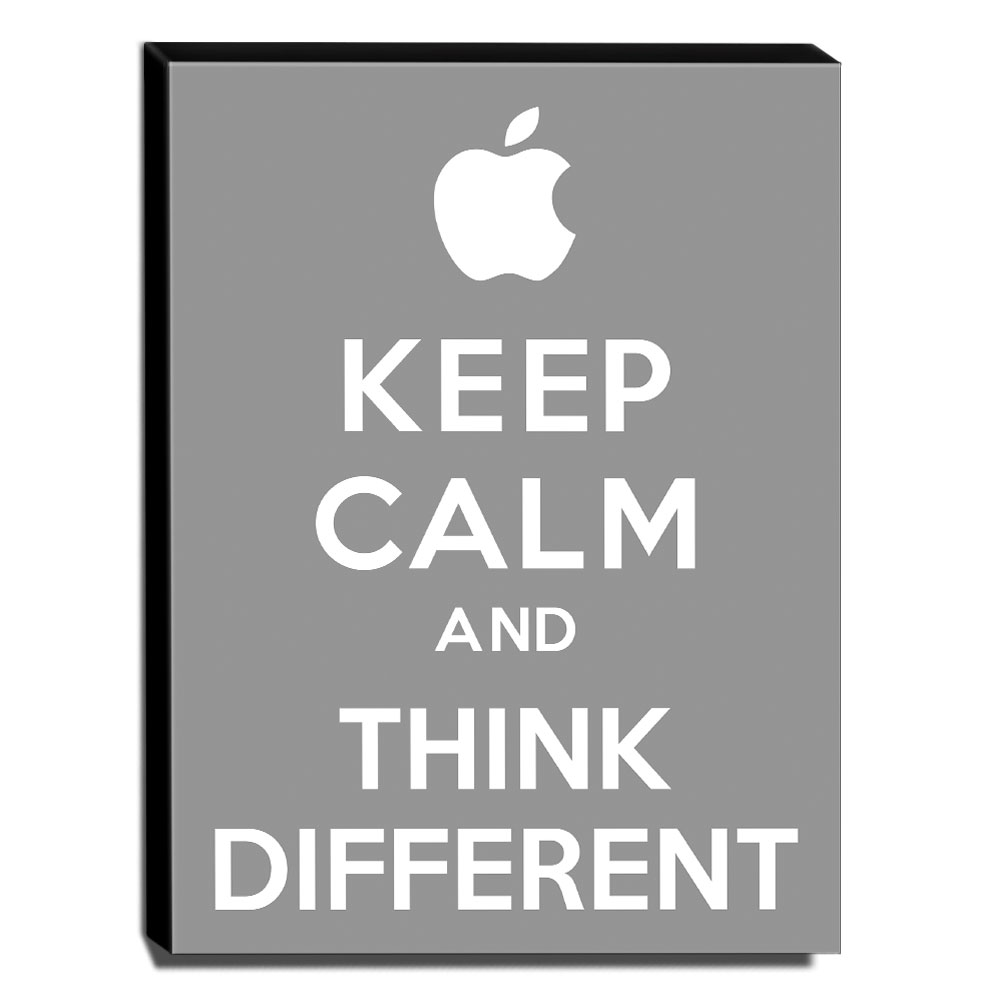 Quadro Keep Calm And Think Different Canvas 40x30cm-KCA16