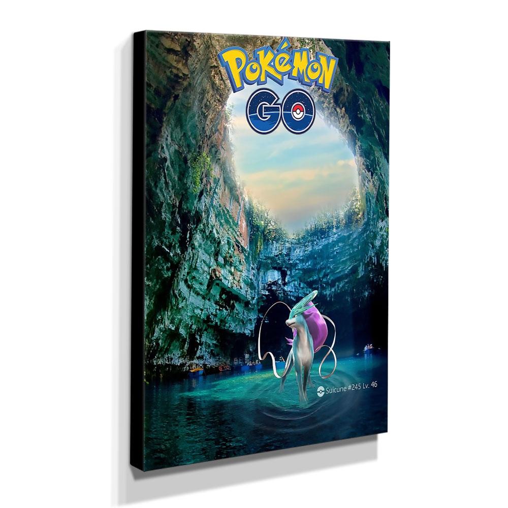 Quadro Pokémon GO Canvas 40x30cm-INF12