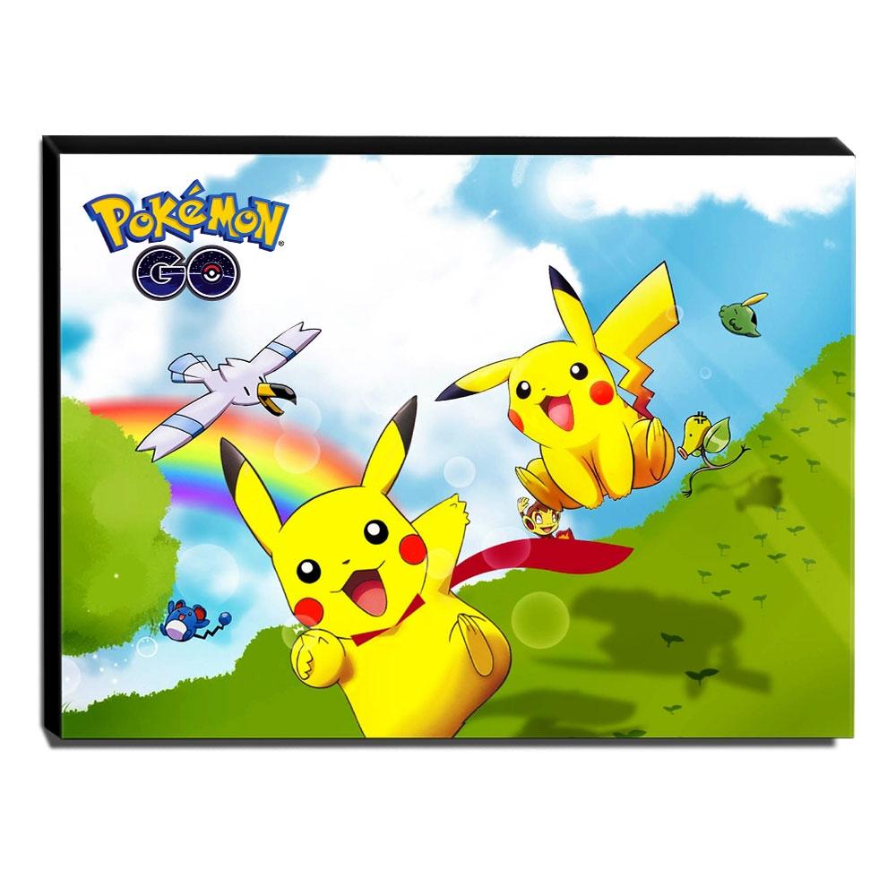 Quadro Pokémon GO Pikachu Canvas 30x40cm-INF21