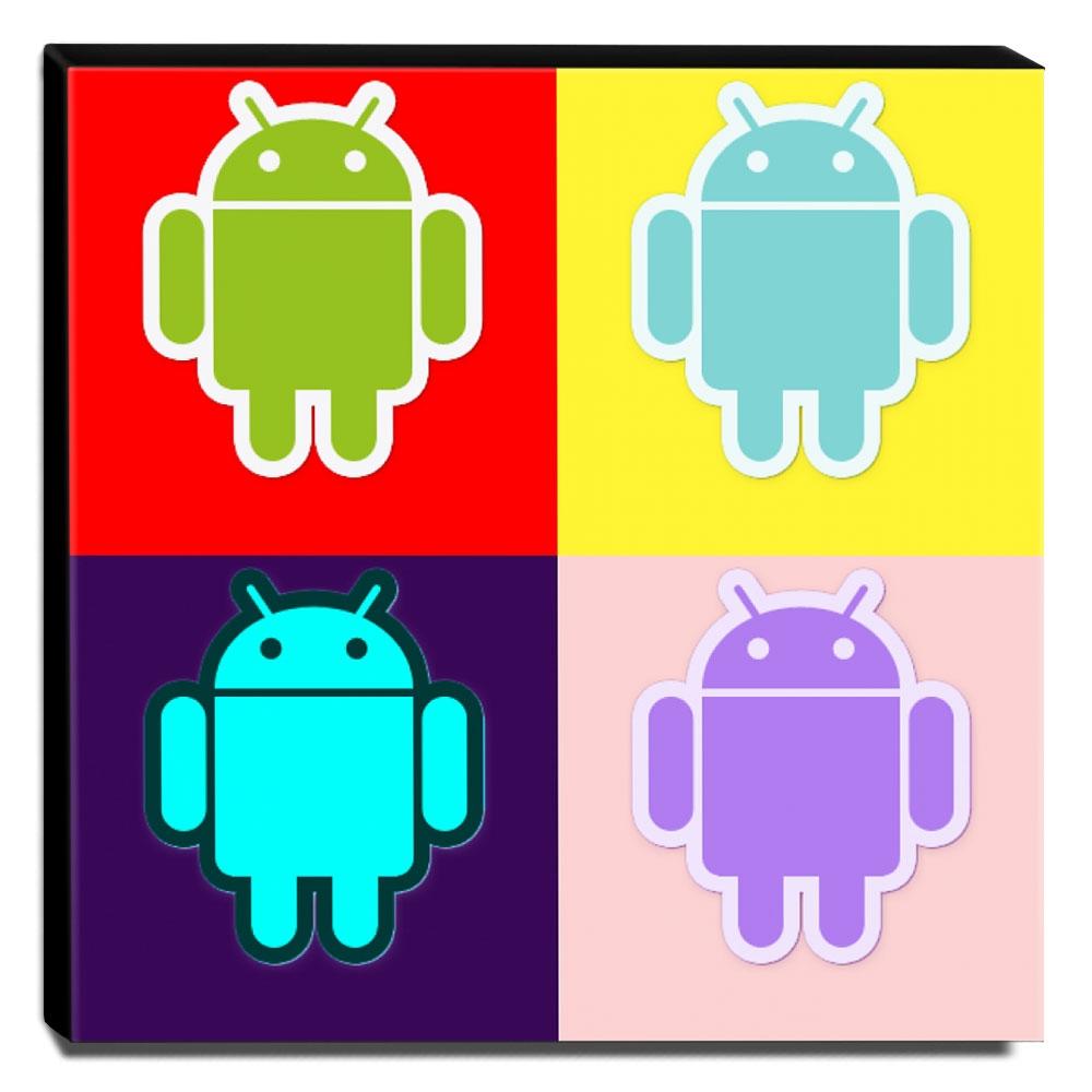 Quadro Pop Art Androide Canvas 30x30cm-QP17
