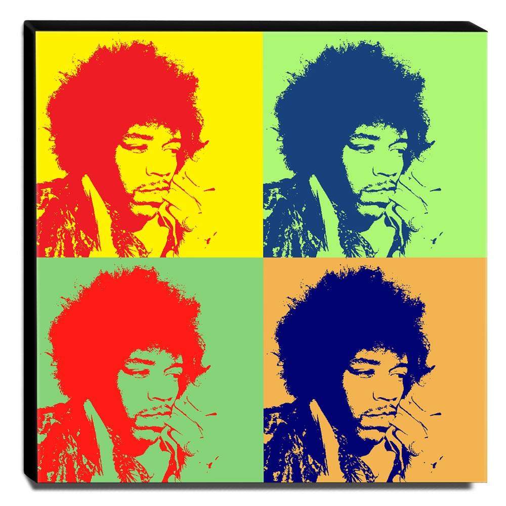 Quadro Pop Art Jimi Hendrix Canvas 30x30cm-QP16