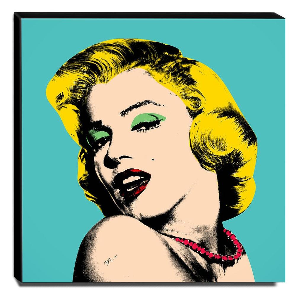 Quadro Pop Art Marilyn Monroe Canvas 30x30cm-QP2