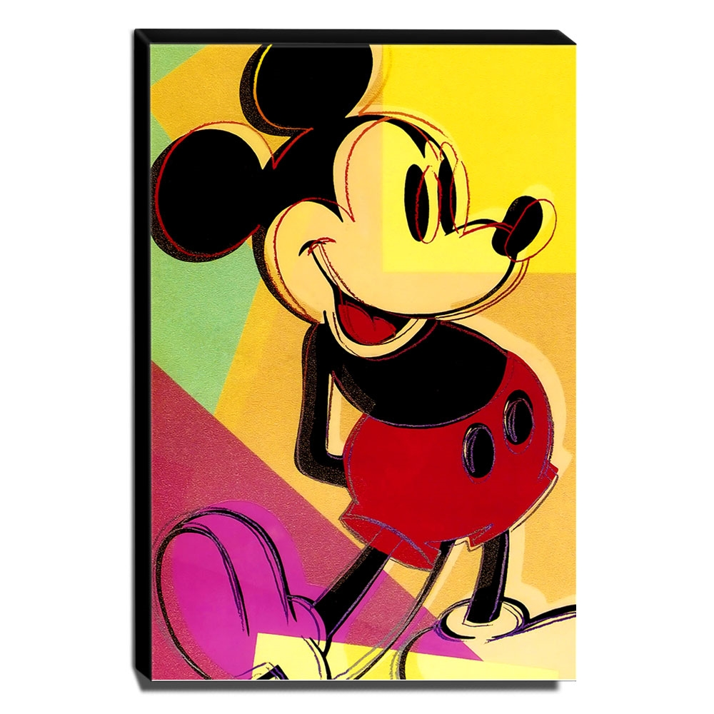 Quadro Pop Art Mickey Mouse Canvas 40x30cm-QP24