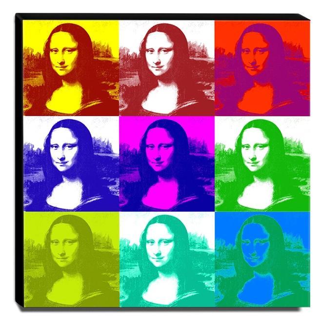 Quadro Pop Art Mona Lisa Canvas 30x30cm-QP13