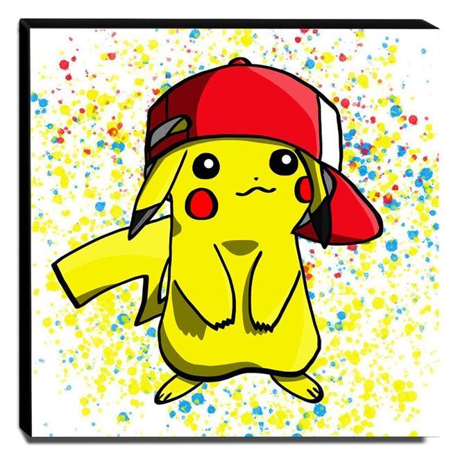 Quadro Pop Art Pikachu Canvas 30x30cm-QP18