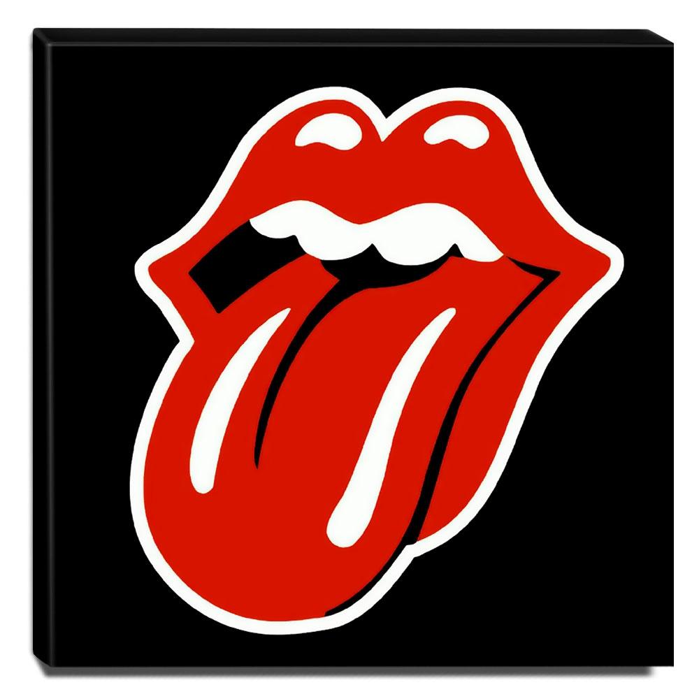 Quadro Pop Art Rolling Stones Canvas 30x30cm-QP6