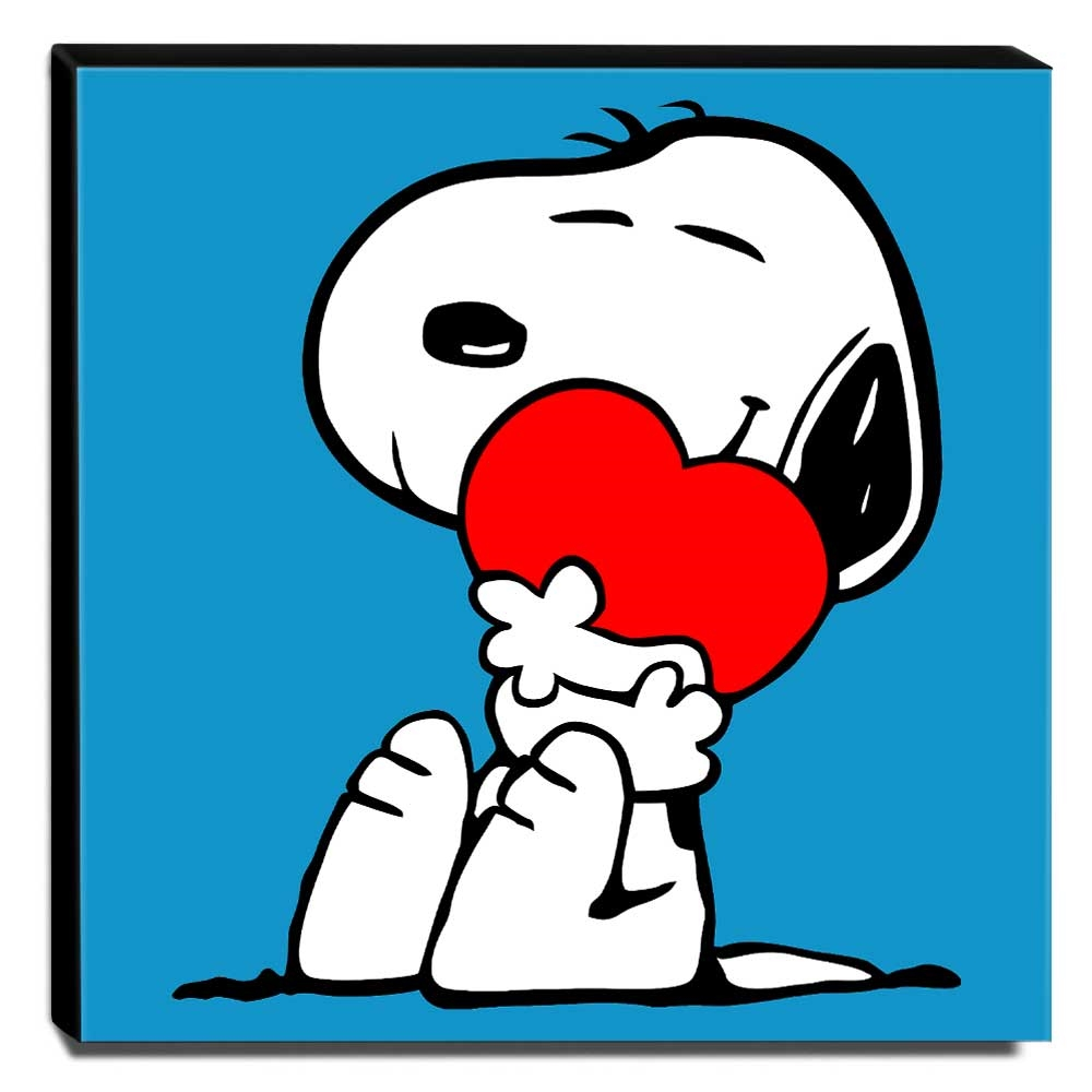 Quadro Pop Art Snoopy Canvas 30x30cm-QP19