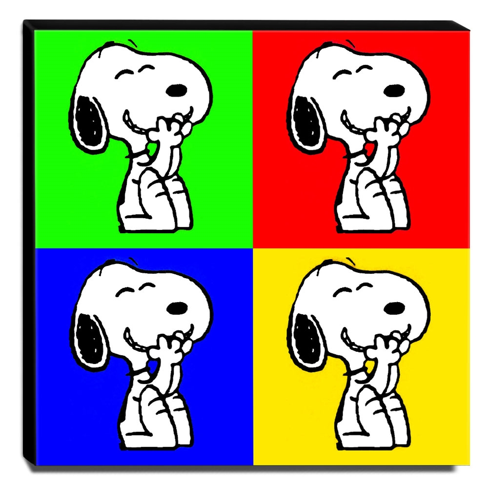 Quadro Pop Art Snoopy Canvas 30x30cm-QP20