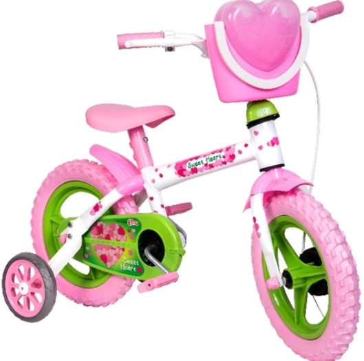 Bicicleta Infantil Styll Baby Aro 12 Sweet Heart