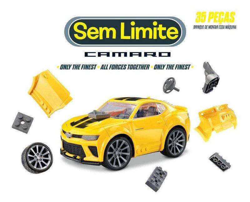 Blocos de Montar Roma Brinquedos Sem Limites Camaro Chevrolet