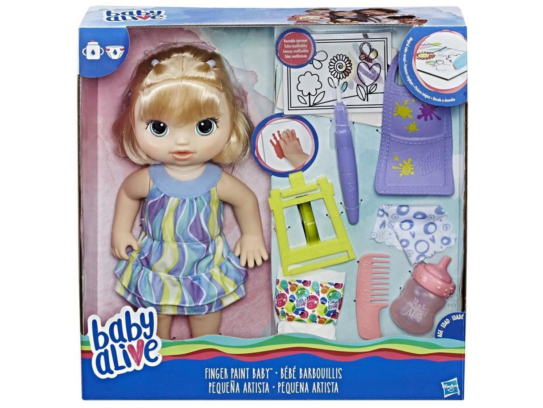 Boneca Baby Alive Hasbro - Loira - Pequena Artista