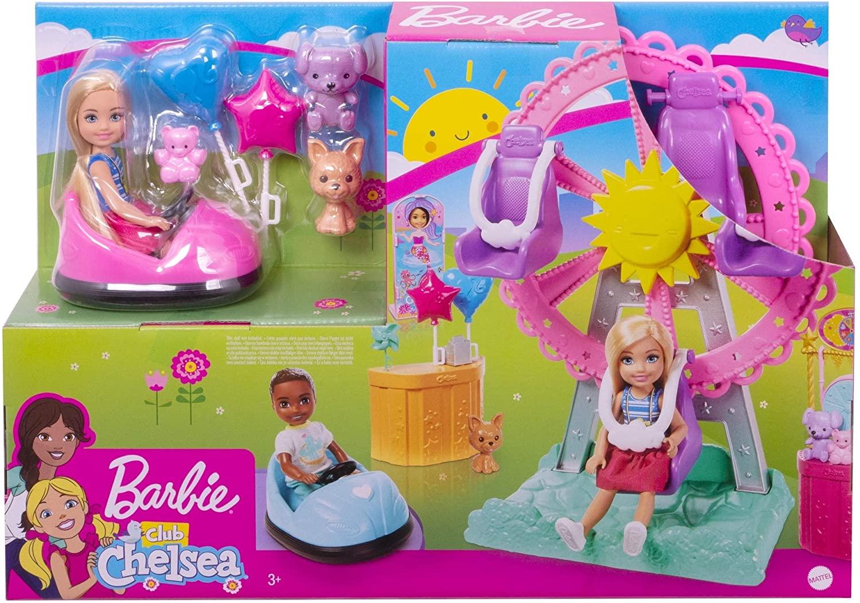 Boneca Barbie Club Chelsea Mattel Parque De Diversão