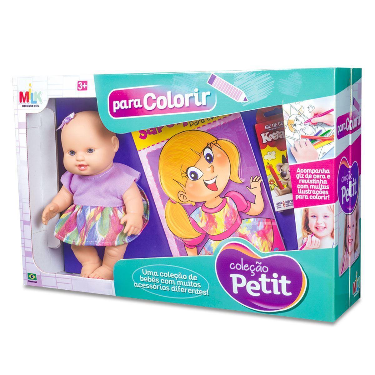 Boneca Coleção Petit Milk Brinquedos Para Colorir