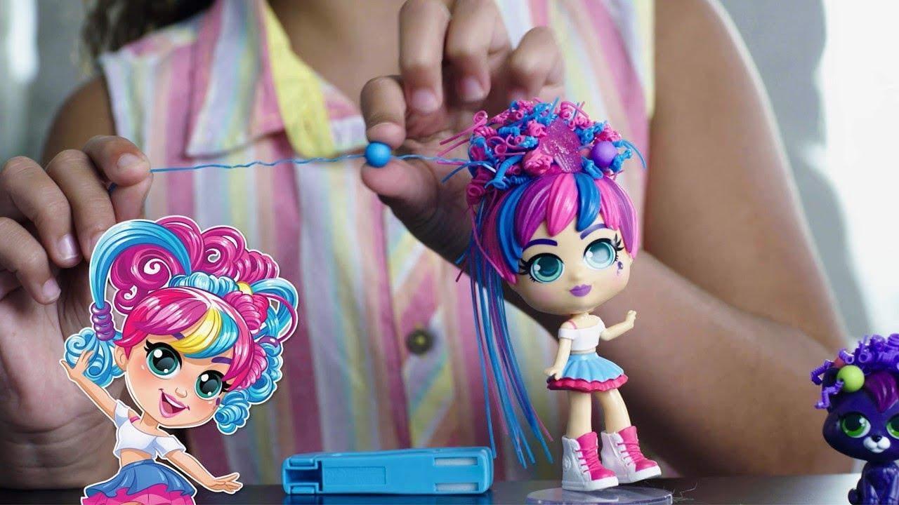 Boneca Curli Girls Rosita Cachear Com Mascote