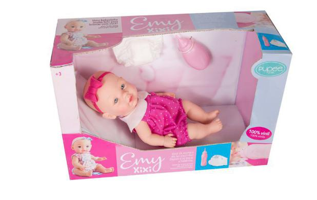 Boneca Emy Pupee faz Xixi -Acessorios