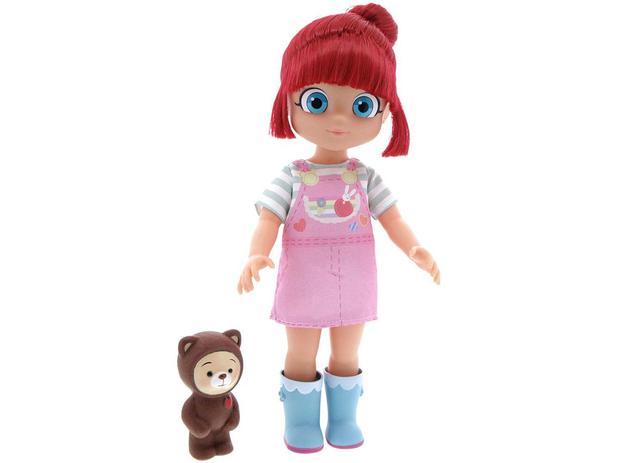 Boneca Rainbow Ruby BabyBrink c/ Ursinho
