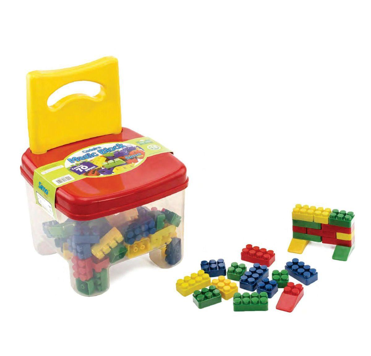 Cadeira Infantil Magic Block SimoToys 70 Peças